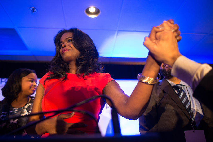 Cook County State's Attorney Kim Foxx at her inauguration party in 2016.